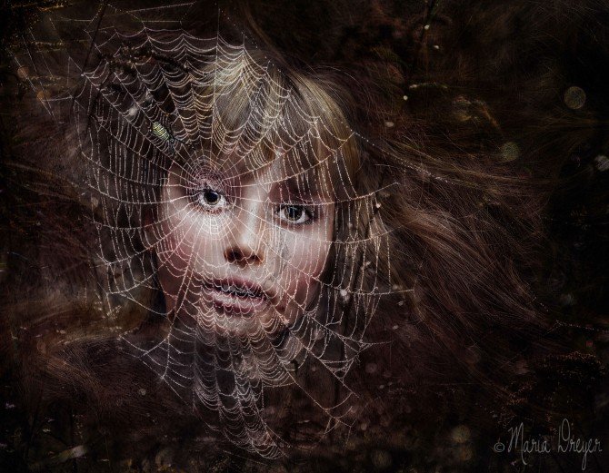 girl and web composite